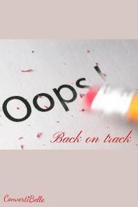 oops back on track