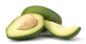 Fresh avocado fruit isolated on white background