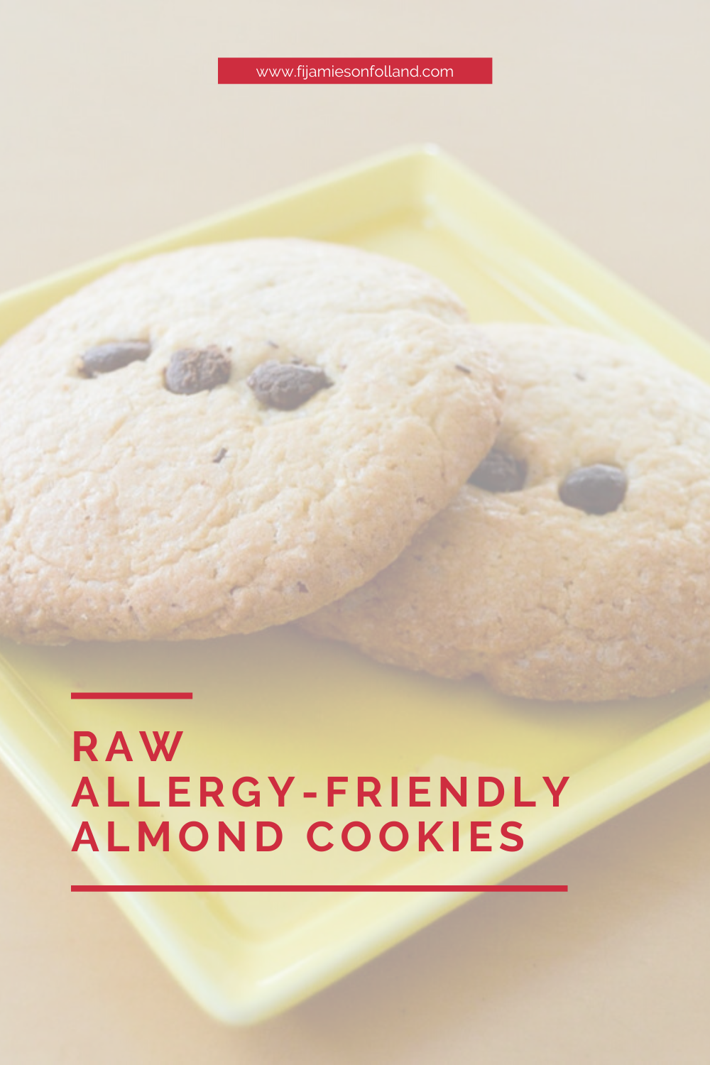 blurred picture of almond cookie