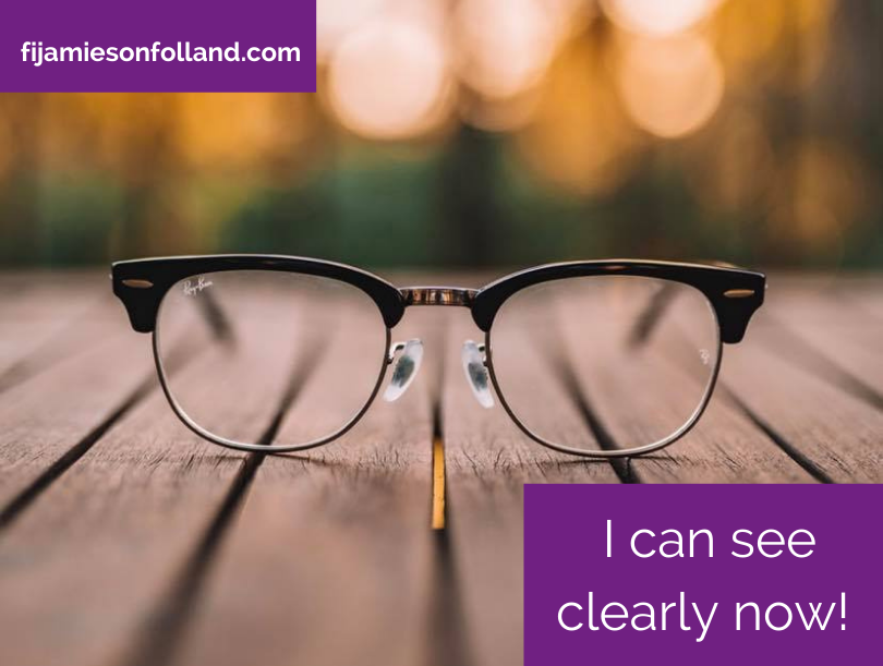 I can see clearly now!